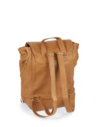 Kensie Natural Zip-accent Faux Leather Backpack