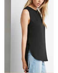 Forever 21 - Black Strap-back Top You've Been Added To The Waitlist - Lyst
