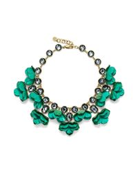 Tory Burch - Green Pentier Embellished Necklace - Lyst