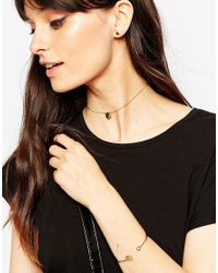 ASOS | Metallic Gold Plated Sterling Silver Circle Choker Necklace Bangle And Earring Gift Set | Lyst