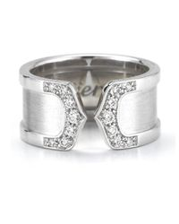 Cartier - Metallic Pre-Owned: Double C DãƒÂ©Cor Ring - Lyst
