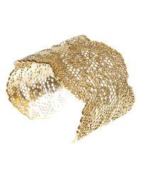 Aurelie Bidermann - Metallic Honeycomb Lace Cuff - Lyst