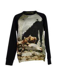 A. Sauvage Black Sweatshirt for men
