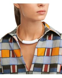 Tory Burch - Metallic Dipped Metal Collar - Lyst