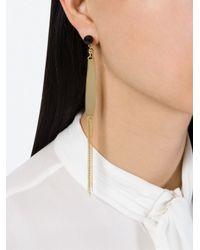 Isabel Marant - Metallic 'tagua' Earrings - Lyst