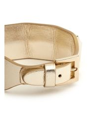 Valentino | Metallic Rockstud Large Leather Bracelet | Lyst