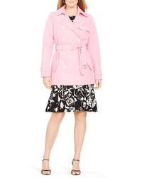 Ralph Lauren Pink Lauren Plus Trench Coat