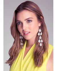 Bebe - Metallic Long Teardrop Earrings - Lyst