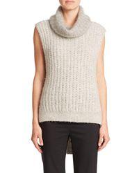 3.1 Phillip Lim | Gray Sleeveless Turtleneck Sweater | Lyst