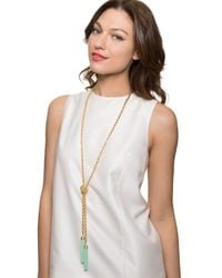BaubleBar | Blue Mini Beaded Tassel Lariat | Lyst