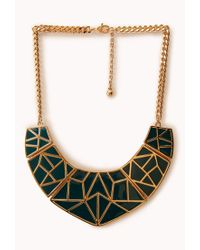 Forever 21 - Green Standout Geo Bib - Lyst