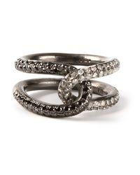 Spinelli Kilcollin | Metallic Interlocking Diamond Ring | Lyst