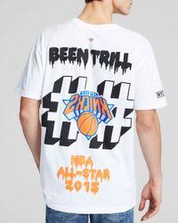 Been Trill White Nba Logo Knicks Tee for men