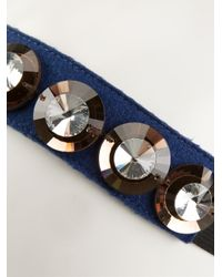 Marni - Blue Embellished Hair Band - Lyst