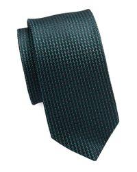 Calvin Klein | Blue Textured Dash Silk-rich Tie for Men | Lyst