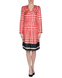 Marni - Red Knee-Length Dress - Lyst