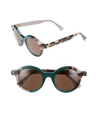 Fendi | Green 48mm Sunglasses | Lyst
