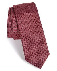 HUGO | Red Geometric Silk Tie for Men | Lyst