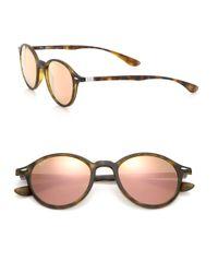 Ray-Ban - Brown Phantos 50mm Round Nylon Sunglasses - Lyst