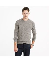 J.Crew Gray Donegal Wool Sweater for men