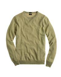 J.Crew - Green Slim Italian Cashmere Crewneck Sweater for Men - Lyst