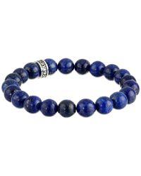 King Baby Studio - Blue Plain Lapis Beaded Bracelet W/ Logo Ring - Lyst