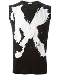 Saint Laurent | Black 'Mr.X' Tank Top for Men | Lyst