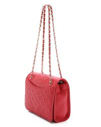 Tory Burch - Red Fleming Medium Shoulder Bag - Lyst