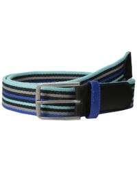 Original Penguin Blue Antonio Webb Stripe Belt for men