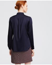 Ann Taylor | Blue Silk Blouse | Lyst