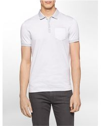 Calvin Klein | White Label Classic Fit Blocked Jacquard Polo Shirt for Men | Lyst