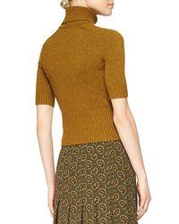 Michael Kors - Brown Half-sleeve Cashmere Sweater - Lyst
