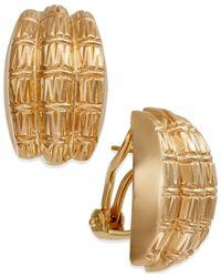 Macy's - Metallic Bamboo Earrings In 14k Gold - Lyst