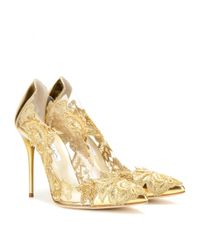 Oscar de la Renta - Metallic Alyssa Embellished Pumps - Lyst