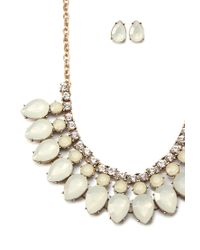Forever 21 | Metallic Teardrop Necklace And Stud Set | Lyst