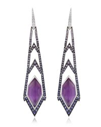Stephen Webster | Purple Lady Stardust Crystal Haze Earrings | Lyst