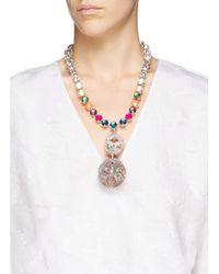 Erickson Beamon Multicolor ''bucky Ball' Crystal Drop Necklace