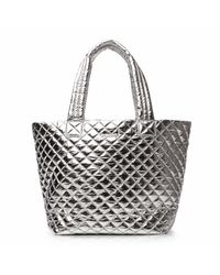 MZ Wallace | Metallic Chrome Oxford Medium Metro Tote | Lyst