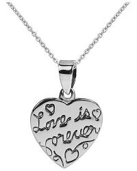 Aeravida | Metallic Inspirational Phrase 'love Is Forever' .925 Silver Necklace | Lyst