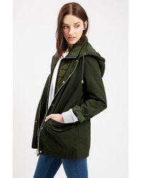 TOPSHOP Green 'kiora' Jacket