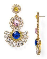 kate spade new york | Multicolor Sunrise Cluster Flower Chandelier Earrings | Lyst