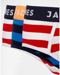 Jack & Jones - Multicolor 3 Pack Briefs With Stripe for Men - Lyst
