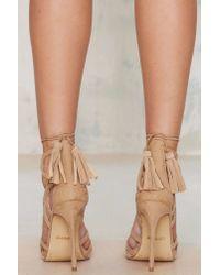 Nasty Gal | Natural Lipstik Shoes Kazzy Microsuede Heel - Beige | Lyst