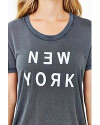 Truly Madly Deeply - Gray New York Tee - Lyst