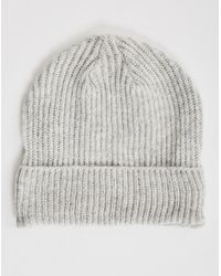Cheap Monday | Gray Cm Beanie Light Grey Melange - Grey for Men | Lyst