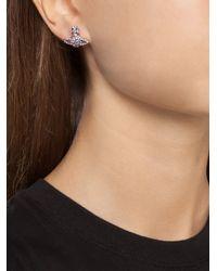 Vivienne Westwood | Purple 'graces Bas Relief' Stud Earrings | Lyst