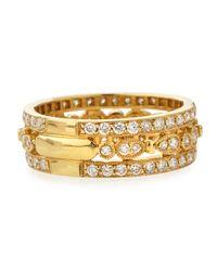KC Designs | Metallic 14k Yellow Gold Diamond Band | Lyst