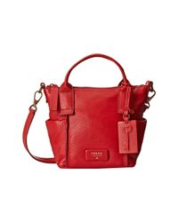 Fossil | Red Emerson Mini Satchel | Lyst