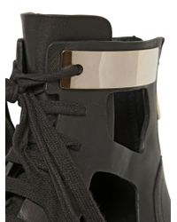 See By Chloé - Black 30mm Cutout Leather Ankle Boots - Lyst