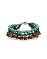 31 Bits | Brown Rhamba Row Braided Bracelet | Lyst